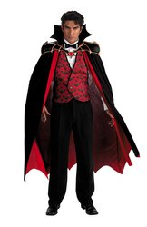 Evening Vampire Adult Costume, size 42-46