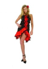 Flamingo-Satin-Dress-Adult-Costume-Size-2-4-SmallMedium-0