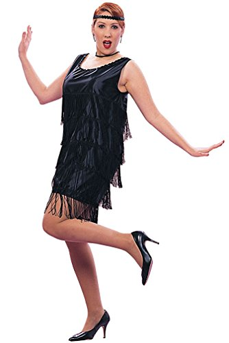 Flapper With Overall Fringe (Black;X-Large)