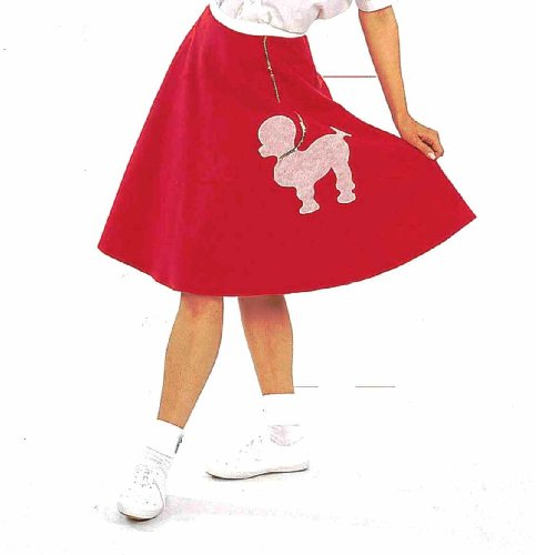 Forum Felt Costume Poodle Skirt, Red, One Size