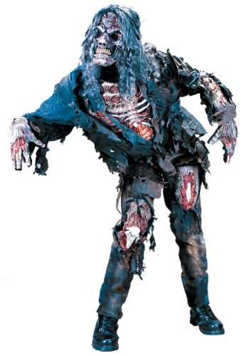funworld mens scary zombie complete theme party fancy dress halloween costume standard up to