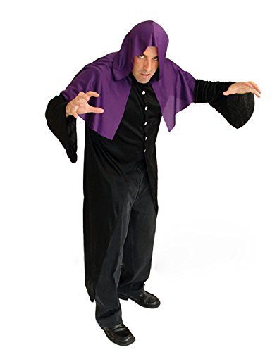 HDE Men s Magical Mystical Sorcerer Hooded Robe Halloween Costume ... 1bfeb7e8f