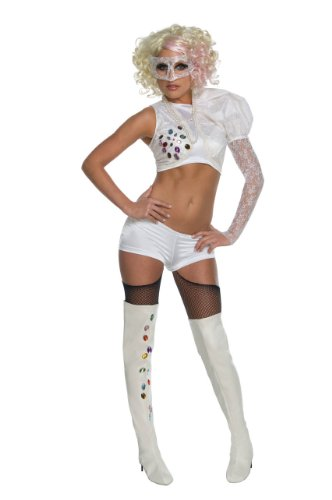 Lady Gaga Video Music Awards Performance Outfit,White,X-Small Costume