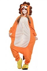 Lion-Kigurumi-Pajamas-Cosplay-Costume-Unisex-Animal-Hoodies-Sleepwear-Small-0