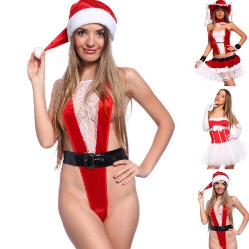 Naughty Sexy Women Lady Miss Santa Claus Christmas Xmas Lingerie ... 471e12fb1c97