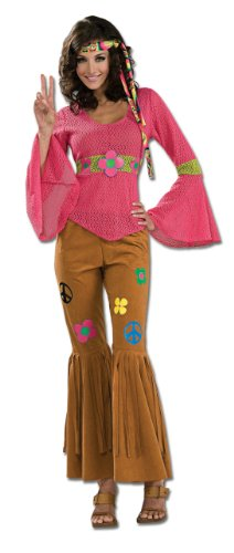 Rubie's Costume 60's Revolution Woodstock Honey, Multicolored, One Size Costume