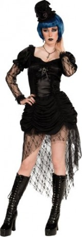 Rubies-Costume-Bloodline-Twisted-Whispers-Gothic-Dress-and-Hat-Black-Large-0
