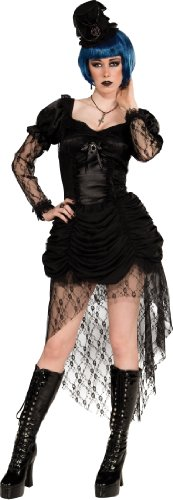 Rubie's Costume Bloodline Twisted Whispers Gothic Dress and Hat, Black, Large