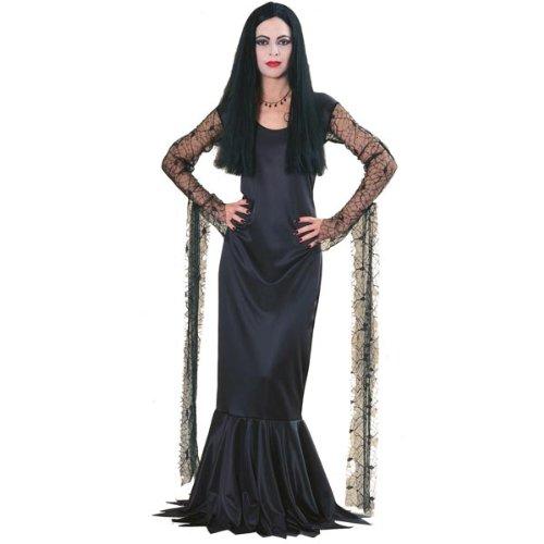 Rubie's Costume Co Women's The Addams Family Morticia Costume, Black, Medium