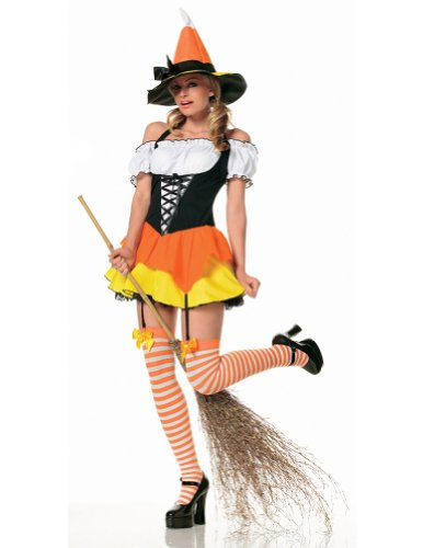 adult costumes – Candy Corn Witch Large