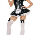2Pc-Naughty-French-Maid-Sexy-Holiday-Party-Costume-BlackWhite-X-Small-0-0