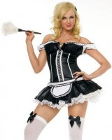 2Pc-Naughty-French-Maid-Sexy-Holiday-Party-Costume-BlackWhite-X-Small-0