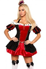 3Pc-Royal-Queen-Sexy-Holiday-Party-Costume-BlackRedLarge-0