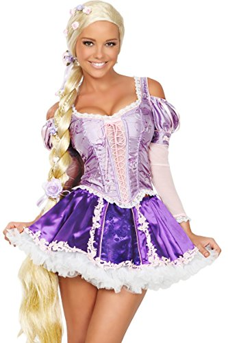 3WISHES 'Tower Beauty Costume' Sexy Fairy Tale Princess Costumes for Women