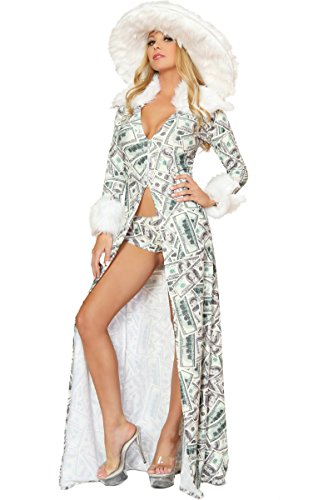 3WISHES Women's Hottest Money Pimp Sexy Halloween Costume