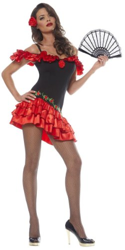 Adult Womens MEDIUM Sexy Spanish Rose Senorita Costume Skirt