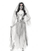 Adult-Womens-Sexy-White-Grey-Zombie-Ghost-Bride-Costume-Dress-X-Large-14-16-0