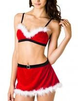 Caramel-Cantina-Sexy-Santa-Costume-Faux-Fur-Velvet-w-Matching-Short-Skirt-36C-Large-RedWhiteBlack-0-0