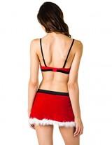 Caramel-Cantina-Sexy-Santa-Costume-Faux-Fur-Velvet-w-Matching-Short-Skirt-36C-Large-RedWhiteBlack-0-2