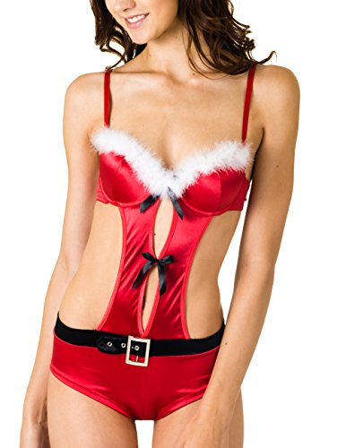 Caramel-Cantina-Teddy-Style-Sexy-Santa-Costume-w-Slight-Push-Up-Molded-Top-Medium-RedWhiteBlack-0