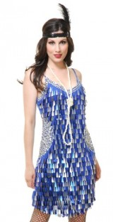 Charades-Sexy-Womens-20s-Blue-Silver-Flapper-Halloween-Costume-Large-0
