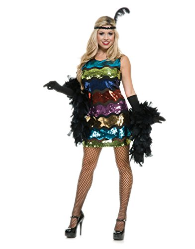 Charades-Womens-Sexy-Rainbow-Flapper-20s-Halloween-Costume-XL-0