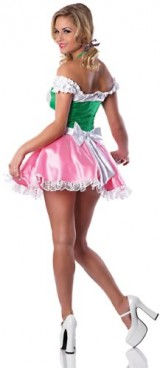 Delicious-Womens-Beers-On-Me-Sexy-Costume-PinkGreen-LargeX-Large-0-0