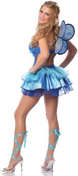 Delicious-Womens-Butterfly-Kisses-Sexy-Costume-Blue-MediumLarge-0-0