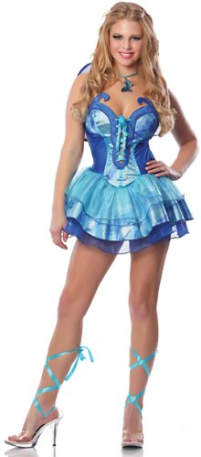 Delicious-Womens-Butterfly-Kisses-Sexy-Costume-Blue-MediumLarge-0