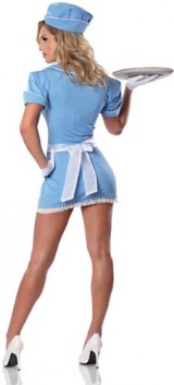 Delicious-Womens-Check-Please-Sexy-Waitress-Costume-Blue-LargeX-Large-0-0