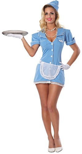 Delicious-Womens-Check-Please-Sexy-Waitress-Costume-Blue-LargeX-Large-0