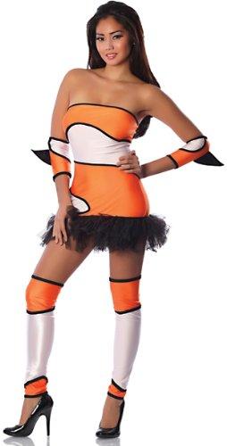 Delicious-Womens-Naughty-Nem-Oh-Sexy-Costume-OrangeBlackWhite-SmallMedium-0