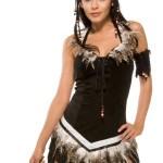 Forplay-Womens-Chiefs-Desire-Dress-BlackWhite-Trim-SmallMedium-0