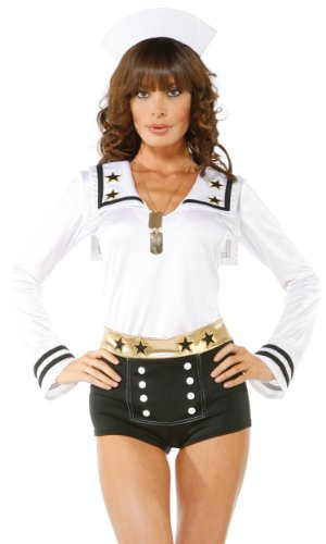 Forplay-Womens-Sailors-Dream-Adult-Sized-Costumes-Blue-SmallMedium-0