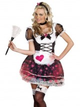 Fun-Light-Up-Maid-Costume-4-Piece-Set-Womens-Sexy-French-Maid-Halloween-Costume-Sizes-Small-0
