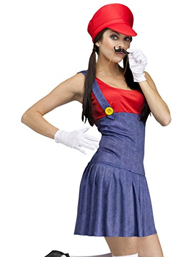 fun world costumes womens pretty plumber adult costume