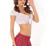 Honeystore-Womens-Dreamgirl-School-Girl-Costume-Outfit-Red-LC8049-0-0