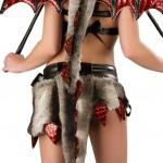 J-Valentine-Womens-Faux-Fur-Hot-Stuff-Dragon-Sexy-Halloween-Costume-Small-BlackRed-0-1