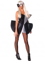 Lady-Gaga-Costume-Dress-Sexy-Style-Fashion-Black-Silver-Womens-Theatrical-Sizes-Small-0