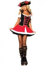Leg-Avenue-Womens-Aye-Aye-Admiral-Costume-BlackRed-MediumLarge-0