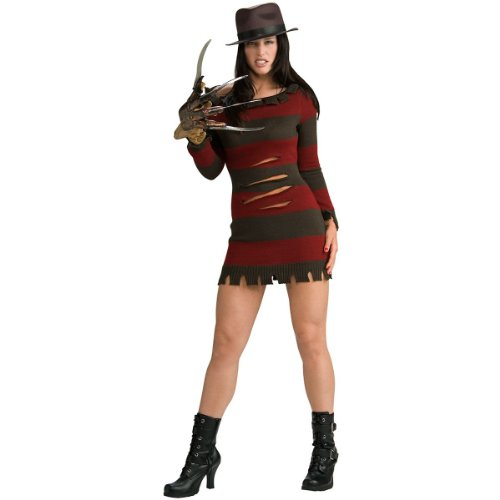 Nightmare-On-Elm-Street-Miss-Freddy-Krueger-Sexy-Adult-Womens-Costume-Select-Shirt-Size-Medium-0
