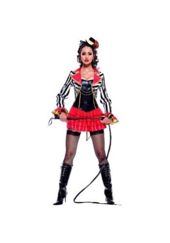 Paper-Magic-Womens-French-Kiss-Ring-Mistress-Costume-BlackRed-Medium-0