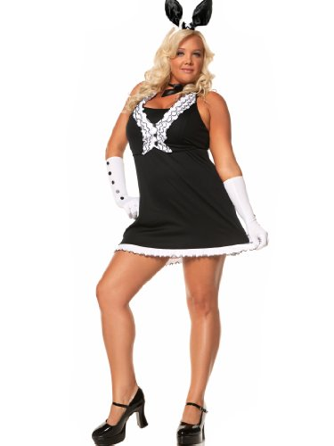 Plus-Size-Sexy-Bunny-Costume-Dress-Ears-and-Tail-Womens-Theatrical-Costume-Sizes-1X-2X-0