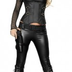 Roma-Costume-5-Piece-Sexy-Swat-Agent-As-Shown-Black-Small-0