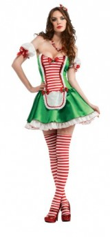 Secret-Wishes-Christmas-Collection-Sexy-Peppermint-Cutie-Costume-GreenRedWhite-X-Small-0