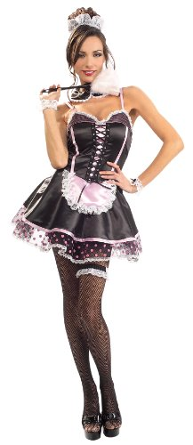 Secret-Wishes-Costume-Naughty-French-Maid-Costume-Multi-X-Small-0