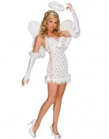 Sexy-Angel-Costume-Medium-Dress-Size-10-14-0