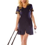 Sexy-Flight-Attendant-Costume-Dress-Mile-High-Club-Matching-Hat-Included-Sizes-Medium-0