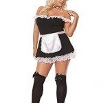 Sexy-French-Maid-Adult-Roleplay-Costume-3X4X-Black-0