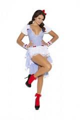 Sexy-Kansas-Cutie-Storybook-Adult-Roleplay-Costume-Small-WhiteBlue-Gingham-0